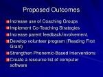 proposed outcomes