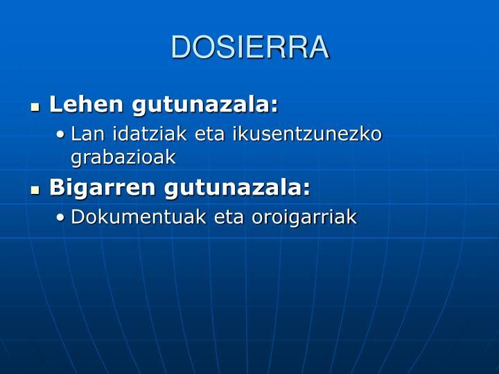 DOSIERRA
