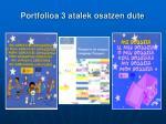 portfolioa 3 atalek osatzen dute