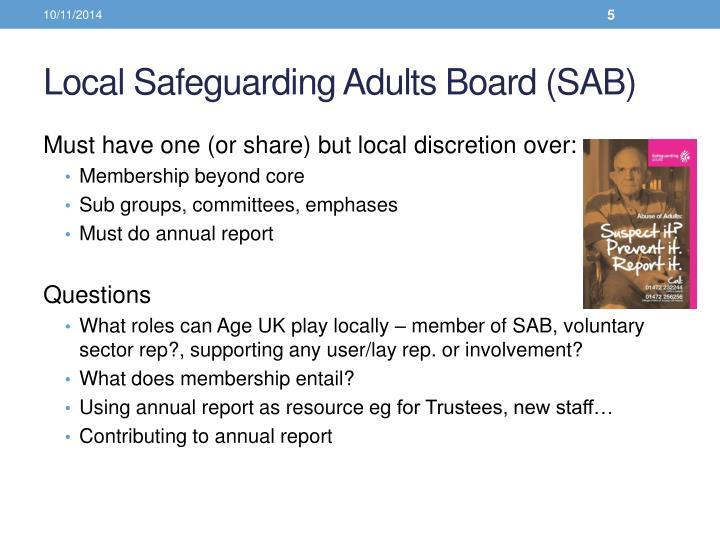Local Safeguarding Adults Board (SAB)