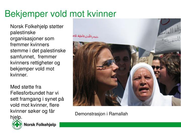 Bekjemper vold mot kvinner