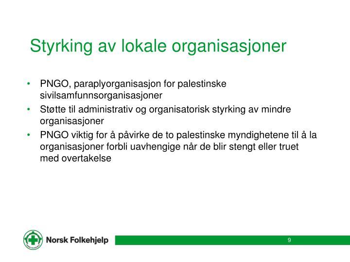 Styrking av lokale organisasjoner