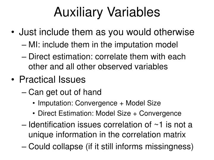 Auxiliary Variables