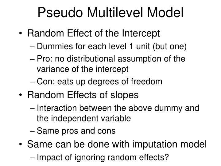 Pseudo Multilevel Model