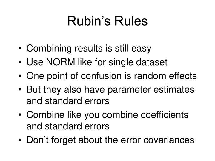 Rubin's Rules