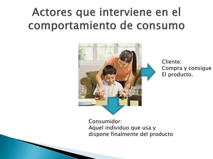 Actores que interviene en el comportamiento de consumo