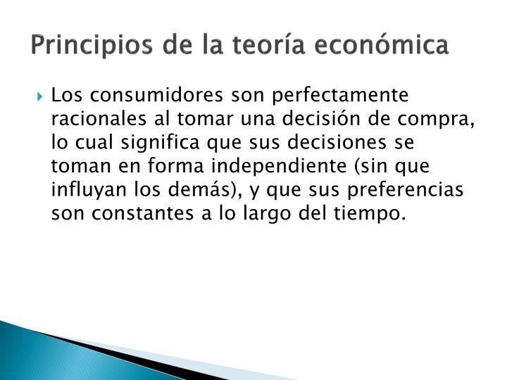 Principios de la teoría económica