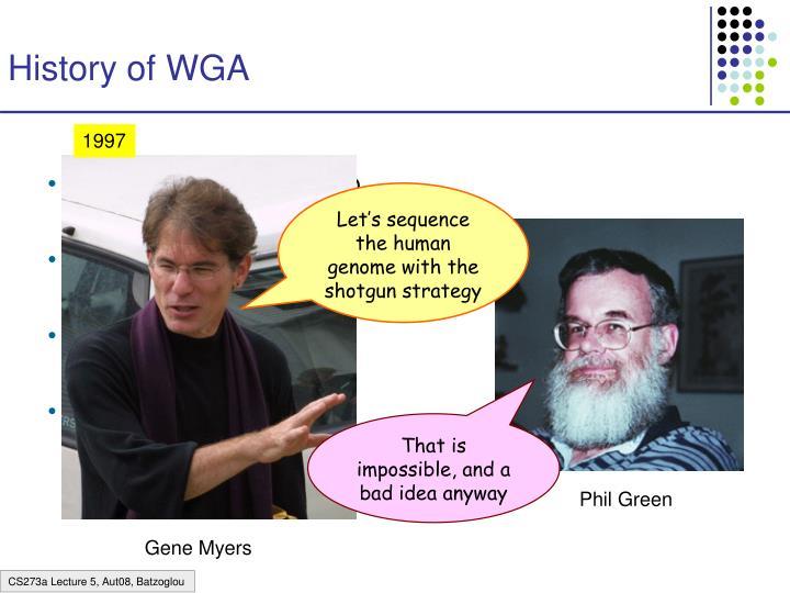 History of WGA