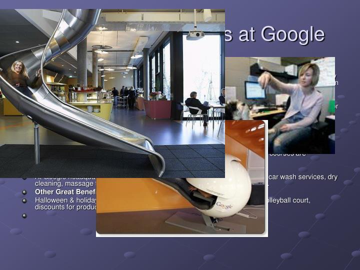 Nonmonetary Benefits at Google