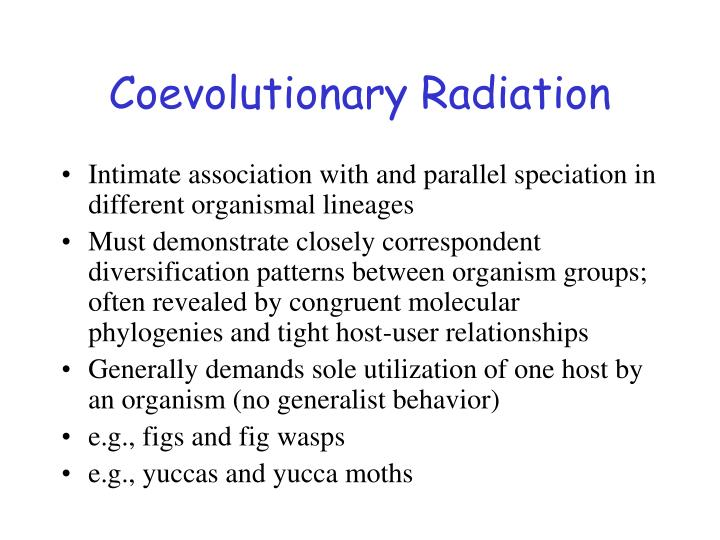 Coevolutionary Radiation