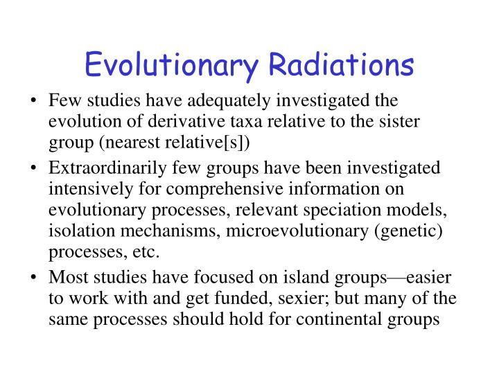 Evolutionary Radiations