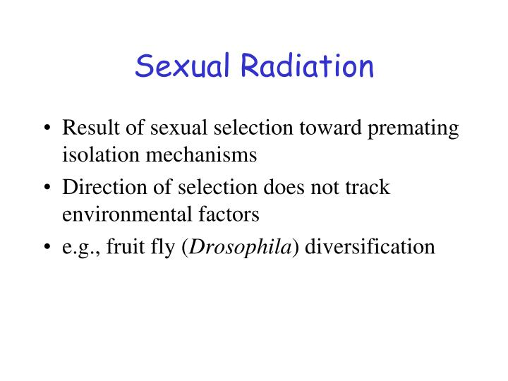 Sexual Radiation