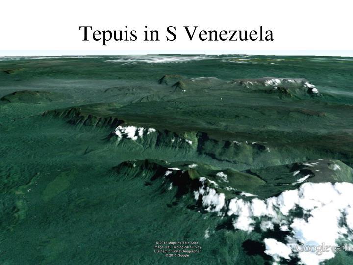 Tepuis in S Venezuela