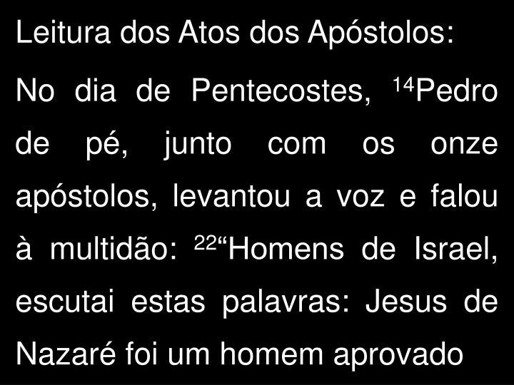 Leitura dos Atos dos Apóstolos: