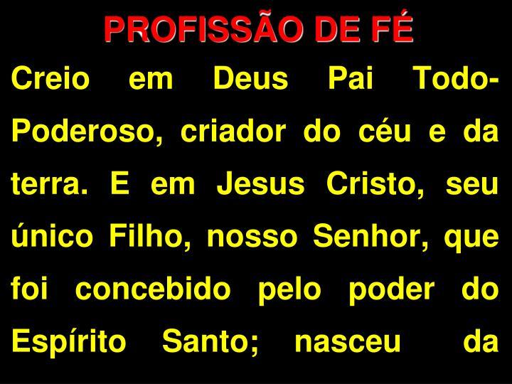 PROFISSÃO DE FÉ