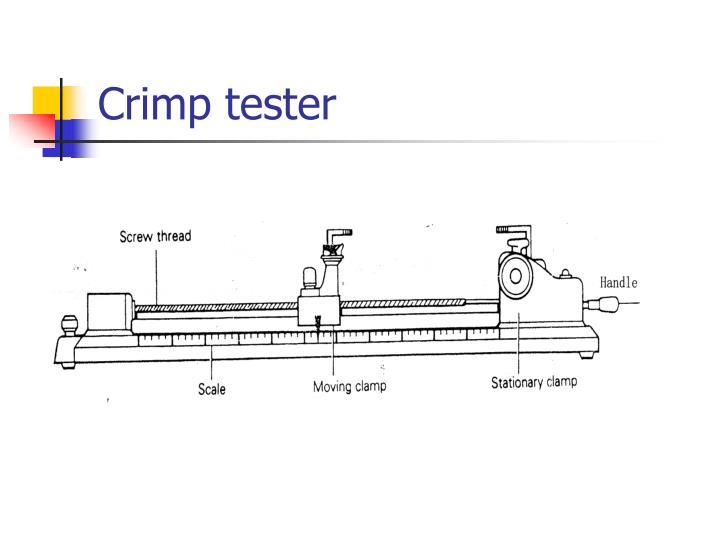 Crimp tester