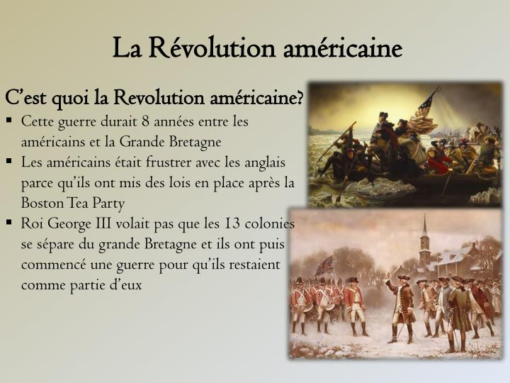 La r volution am ricaine