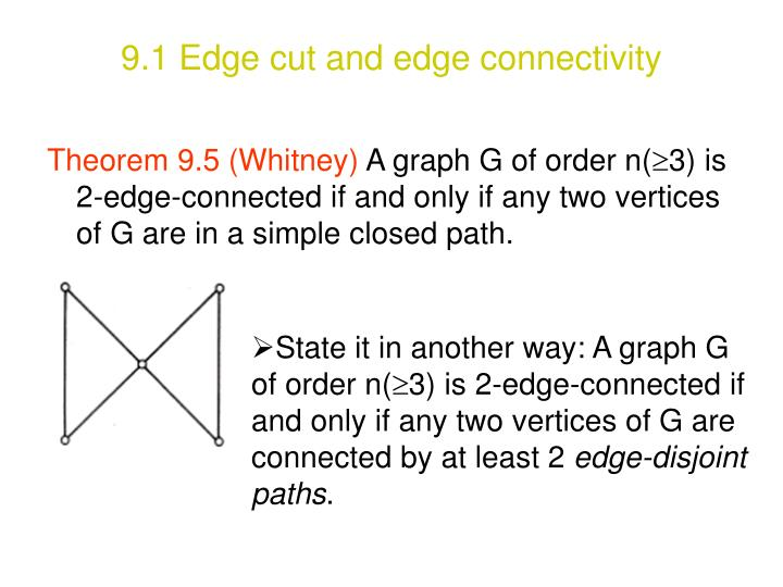 9.1 Edge cut and edge connectivity