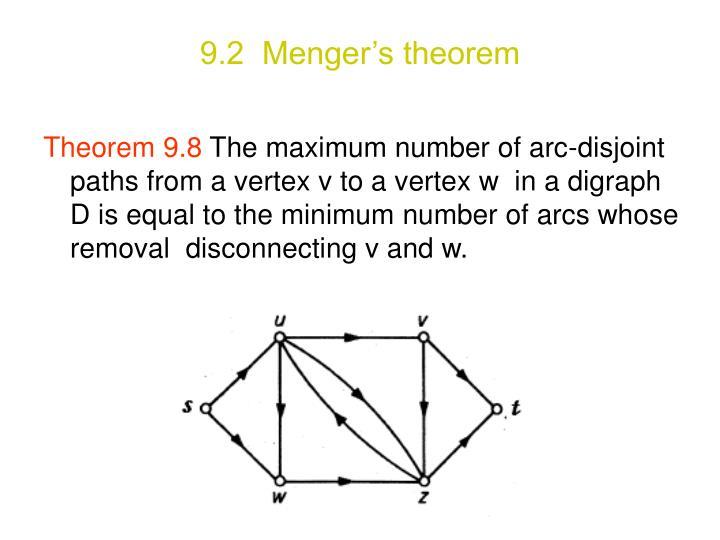 9.2  Menger's theorem