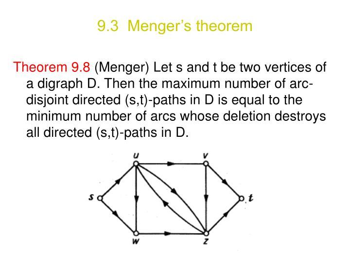 9.3  Menger's theorem