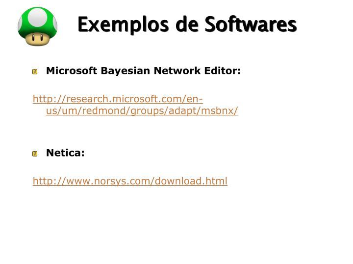 Exemplos de Softwares