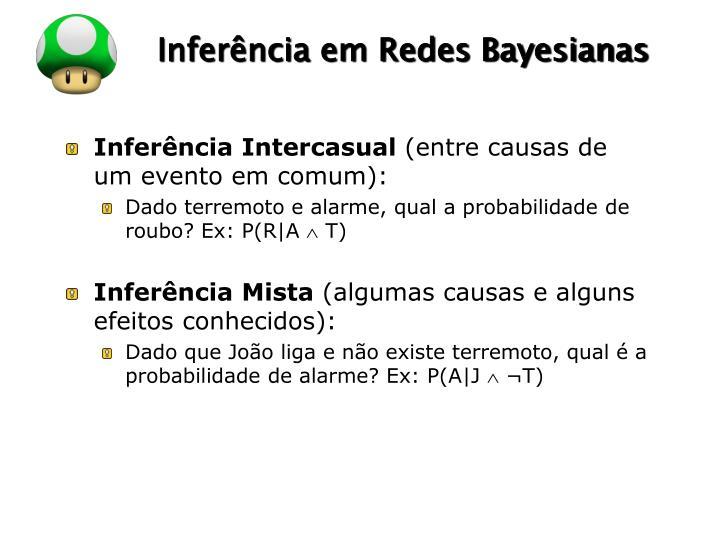 Inferência em Redes Bayesianas