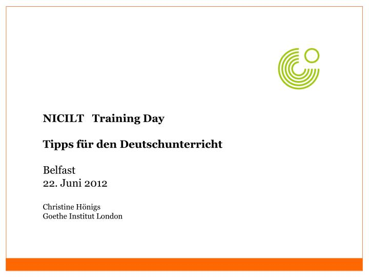 NICILT   Training Day