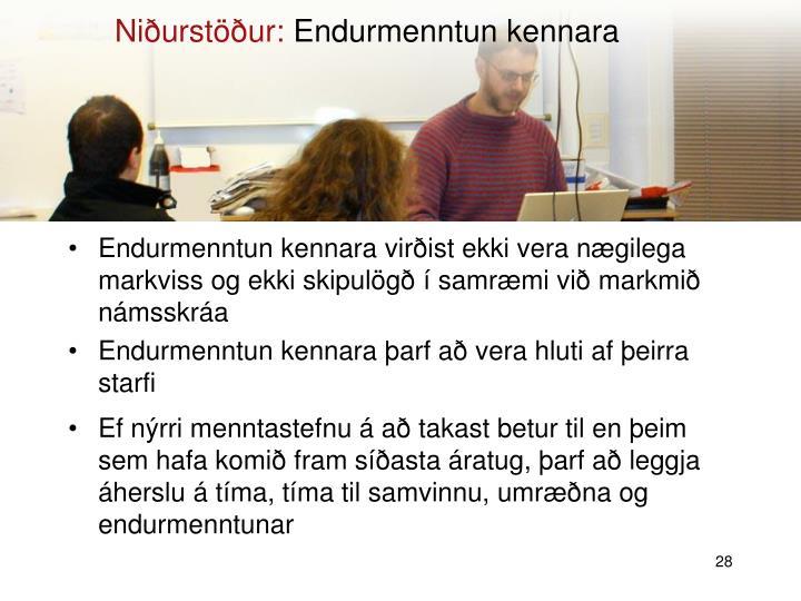 Niðurstöður: