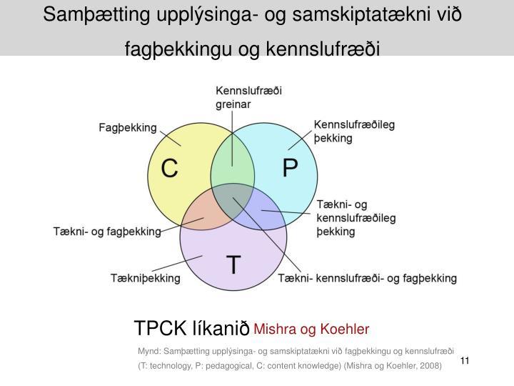 Samþætting upplýsinga- og samskiptatækni við fagþekkingu og kennslufræði