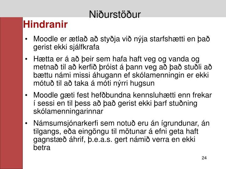 Niðurstöður