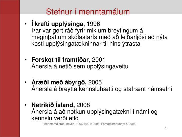 Stefnur