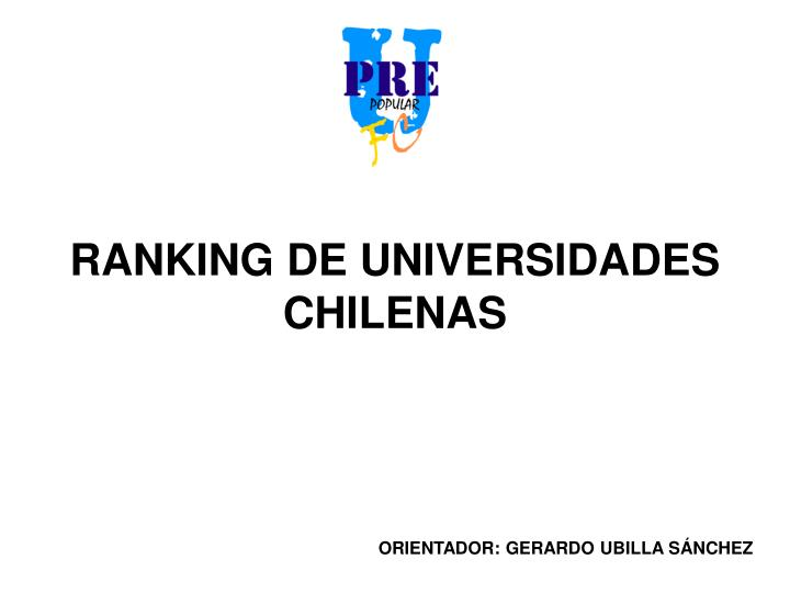 Ranking de universidades chilenas