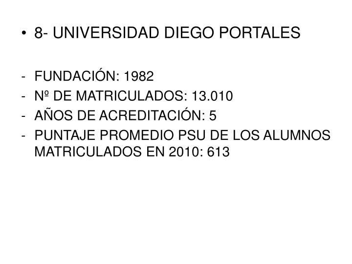 8- UNIVERSIDAD DIEGO PORTALES