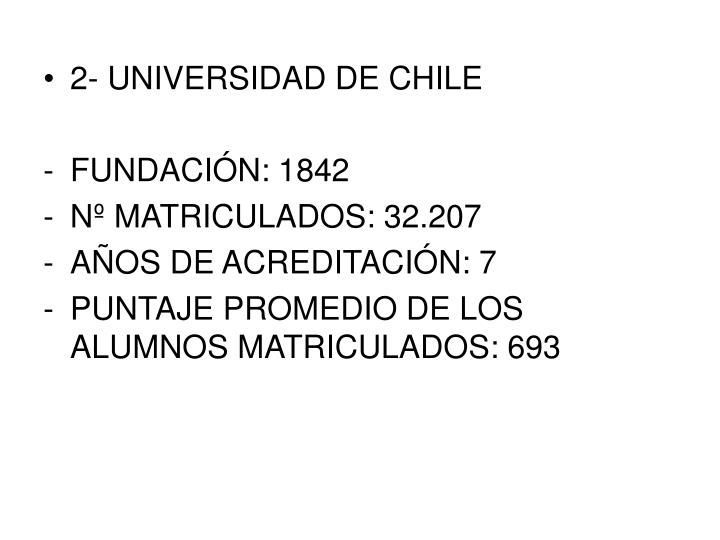 2- UNIVERSIDAD DE CHILE