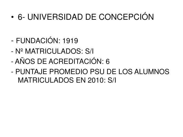 6- UNIVERSIDAD DE CONCEPCIÓN