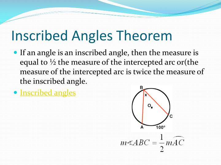Inscribed Angles Theorem