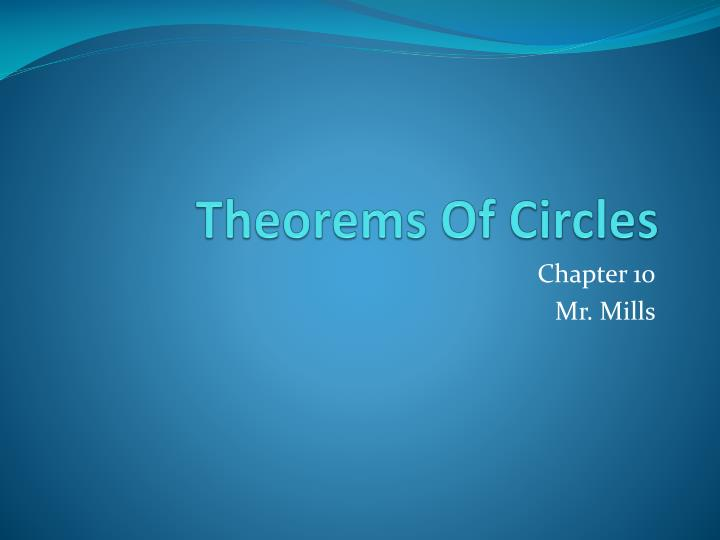 Theorems of circles