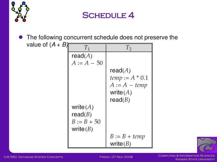 Schedule 4