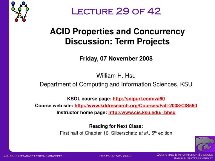 Lecture 29 of 42