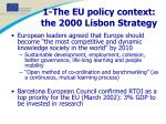 1 the eu policy context the 2000 lisbon strategy