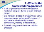 2 what is the framework programme