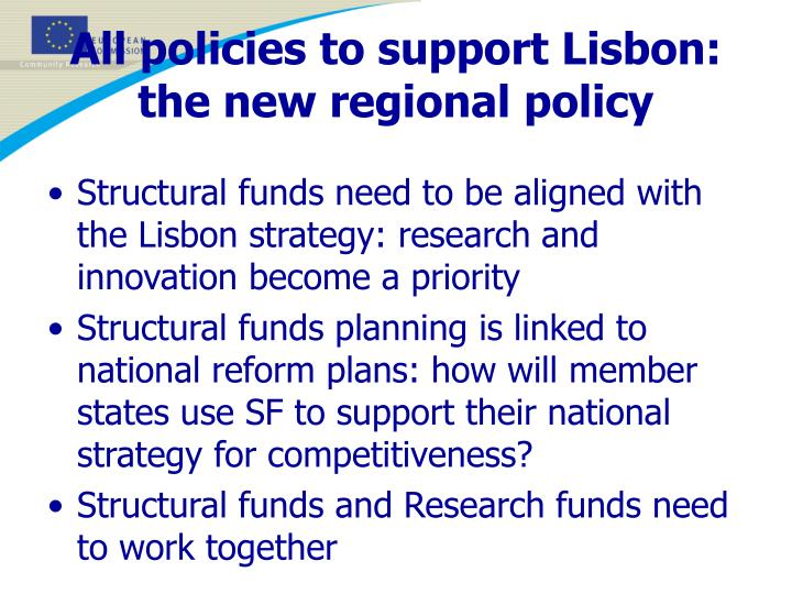 All policies to support Lisbon: