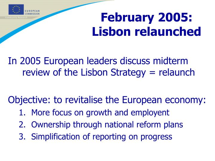 February 2005: Lisbon relaunched