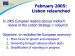 february 2005 lisbon relaunched