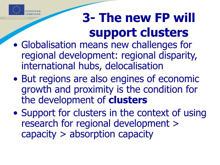 3- The new FP will support clusters