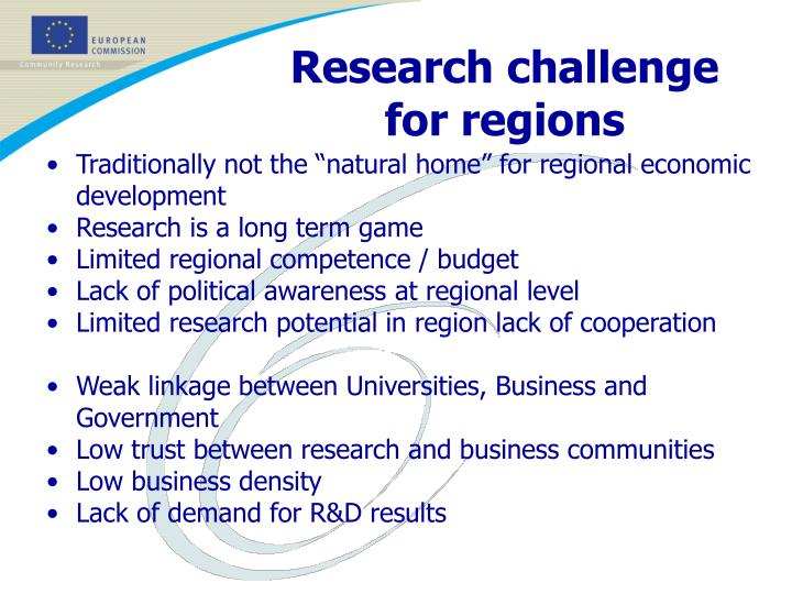 Research challenge