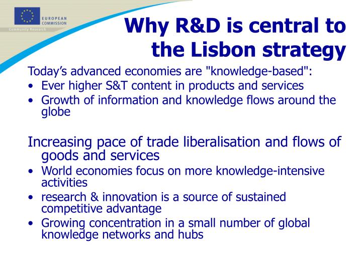 Why R&D is central to the Lisbon strategy