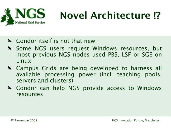 Novel Architecture !?