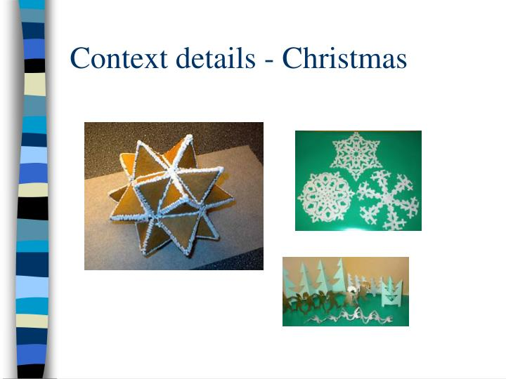 Context details - Christmas