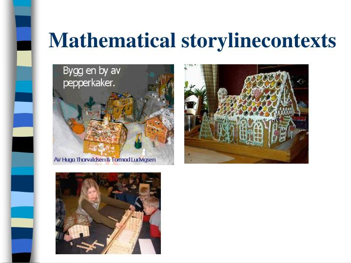 Mathematical storylinecontexts